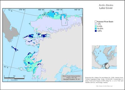 Alaska Arctic Lake Cover