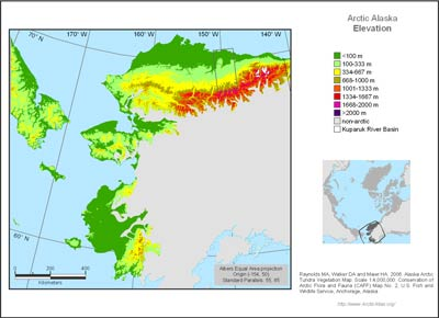 Alaska Arctic Elevation