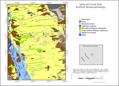 Imnavait Creek Grid Surficial Geomorphology