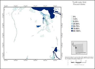 Toolik Lake Grid Percent Water