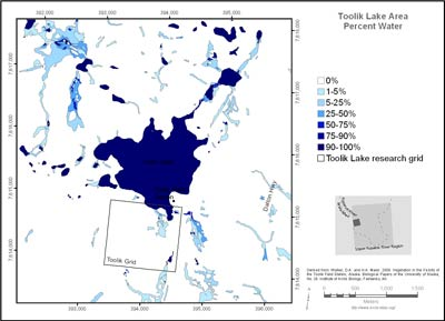 Toolik Lake Area Percent Water