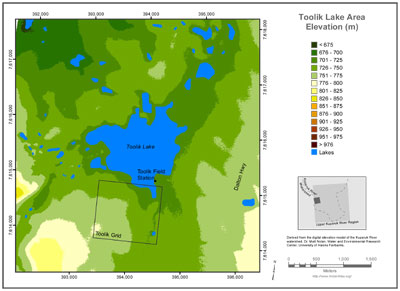 Toolik Lake Area Elevation