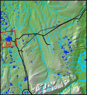 location map for Toolik Lake Area