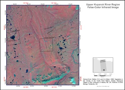 Upper Kuparuk River Region False-Color Infrared Image