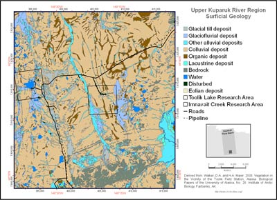 Upper Kuparuk River Region Surficial Geology
